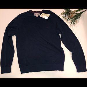 NWT Penguin Dark Denim Crew Neck Sweater Large